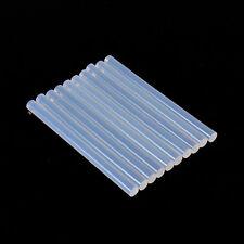 LOT DE 10 BATONS  DE COLLE TRANSLUCIDE POUR PISTOLET A CHAUD. DIAMETRE: 7 mm.