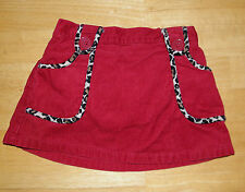GYMBOREE GLAMOUR KITTY RED CORDUROY SKIRT GIRLS 18 24 MO FALL WINTER