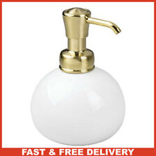 mDesign 10 oz. Soap Dispenser - Refillable Liquid Soap Dispenser - Ceramic Soap
