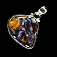 """Boulder Opal 925 Sterling Silver Pendant 1 3/8"""" Ana Co Jewelry P723108F"""