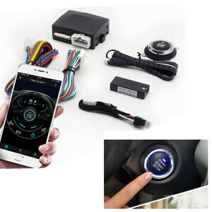 Smart Car Engine Start Stop Phone Remote Control Button Bluetooth APP System 12V