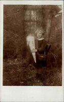 Glückwunsch AK ~1930 Schulgang Schule Einschulung Mädchen Kinder mit Schultüte