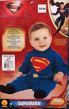 Superman Toddlers Halloween Costume 1 - 2 Years NEW Boy's DC Man Of Steel Romper