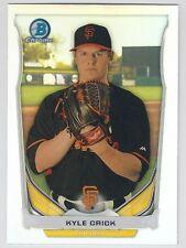 KYLE CRICK 2014 Bowman Draft Chrome Top Prospect Refractor Card #CTP-63 Giants