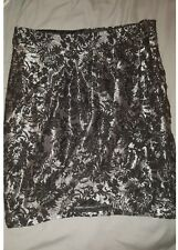 Stradivarius New Collection Size 36 (approx Size 4) black and silver floralSkirt