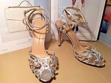 2d1cfb9d465e Charlotte Olympia Ursala Silver L7 R7.5 Ankle Strap Sandal Shoe NEW  995  MISMATE