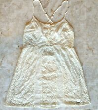 Abercrombie and Fitch Women's Top Ivory Lace Layered String Straps Sz M