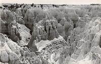 South Dakota SD Real Photo RPPC Postcard BADLANDS Grand Canyon c1950