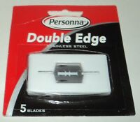 PERSONNA Double Edge Stainless Steel Razor Blades 5 Blades New In Package