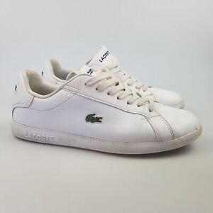 Women's LACOSTE 'Graduate BL' Sz 8 US Shoes White GCc Leather | 3+ Extra 10% Off