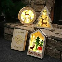 Wooden LED light glowing book for Christmas decoration Family holiday decor
