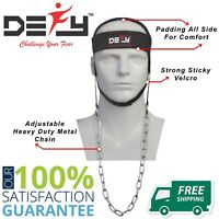 DEFY NYLON WEIGHT LIFTING HEAD HARNESS NECK STRENGTH GYM EXERCISE PADDED BLACK