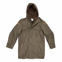 German Parka Original Army Military Winter Warm Fleece Hooded Coat Olive Green