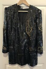 Stunning Lillie Rubin Sequin  Jacket Medium 8-10 Champagne Theme Avant Guard