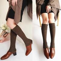 1/5 paires femme chaussettes hautes laine cachemire de genou épais Jambière LOT
