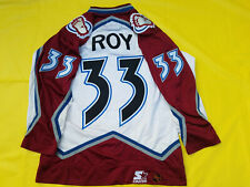 Patrick Roy Colorado AValanche Jersey mens 48 authentic STARTER white fight
