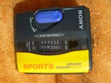 (2) Sony Sports Walkman:Wm-Fs111,Wm-F s393 (1) Walkman Headset