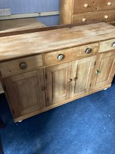 Antique Pine Dresser Base