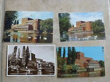 vintage postcards of the memorial theatre stratford-upon-avon x4