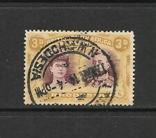 1910 King George V SG134 - SG137 3d. Yellow & Purple Double Head Used RHODESIA