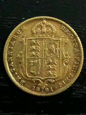 1891 S Sydney Half Sovereign Jubilee Head gold coin Australia