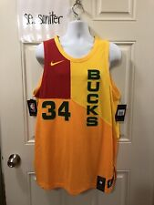 Nike Milwaukee Bucks Giannis Antetokounmpo City Edition Authentic Jersey Size 52