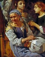 The Lacemaker by Danish Bernhard Keil. Life Art Repro choose Canvas or Paper
