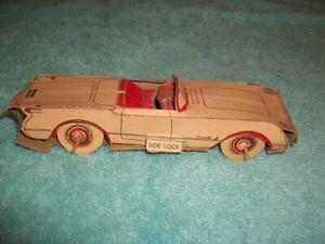 """Vintage 6"""" Long Nabisco Shredded Wheat Sports Car Model Corvette Missing Wheel"""