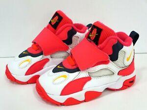 Nike Air Max Speed Turf Hi Top Girl Sz 7c (PS) White/Laser Orange/Red Kids