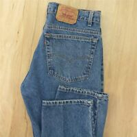 vtg usa made red tab LEVI's 505 fit jeans 38 x 30 tag blue faded distressed