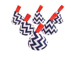 Blue Red Zigzag - Pee Pee Teepee x6 / Baby Shower Boy Gift / Nordic Scandinavian
