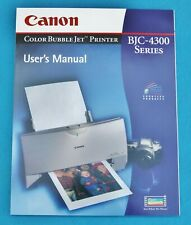 CANON BJC-4300 SERIES USER'S MANUAL , FOR COLOR BUBBLE JET PRINTER