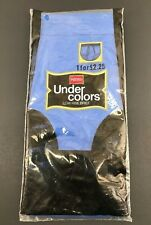 Vintage Hanes Under Colors Low Rise Brief Underwear Blue 100% Cotton Nos