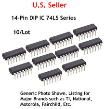 74LS125: Quad 3 State Bus Buffer IC: 14-Pin DIP: 10/Lot: Great Price