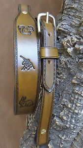 Hand made leather Cobra style rifle sling,rabbit,squirrel and gunmen,
