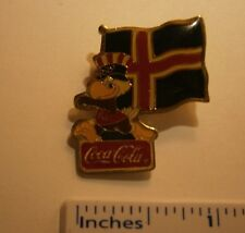 """COCA COLA ICELAND 1984 LOS ANGELES OYLMPIC PIN,  NICE PIN """"WE COMBINE SHIPPING"""""""