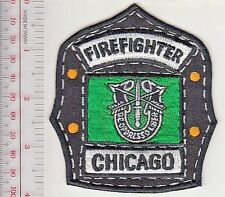Chicago Fire Department & US Army Special Forces Green Beret Helmet Shield Patch
