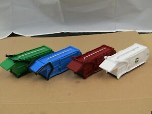dcp/greenlight 4pc front load trash bodies for custom projects new no box 1/64.
