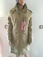 Manteau TEDDY SMITH Mae Peach Cloth avec capuche couleur Camel