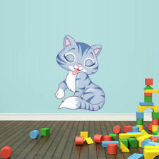 Full Color Wall Vinyl Sticker Decals Cat Kitty (Col70)