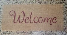 Primitive Natural Burlap Welcome Banner Sign Applique Country Patriotic Rustic R