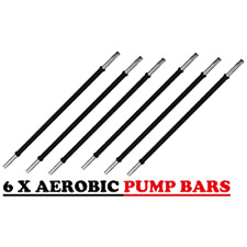 6 Set Pack Gym Studio Class Barbell  - 30 mm Aerobic Pump Weight Bar   Collars