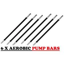 6 Set Pack Gym Studio Class Barbell  - 30 mm Aerobic Pump Weight Bar   Collars