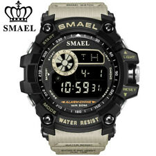 SMAEL Men Digital Watches Fashion LED Chronograph Outdoor Wristwatch Alarm Watch