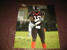 Brandon Flowers Virginia Tech Hokies Signed 16x20 Chiefs - Chargers - CLEARANCE!