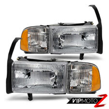 94-01 Dodge Ram 1500 2500 3500 Pickup Truck Corner Signal Headlight Lamp Pair