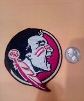"""FSU FLORIDA STATE SEMINOLES Vintage Embroidered Iron On Patch 3.5"""" x 2.75"""""""