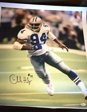 CHARLES HALEY COWBOYS JSA SIGNED 20X24 GICLEE CANVAS PRINT AUTHENTIC AUTOGRAPH