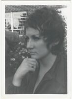 1980s Pensive Young Woman with Gold Ring Portrait Snapshot
