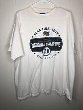 Duke Basketball Championship 2001 Long Sleeve Shirt - White Large Free Shipping